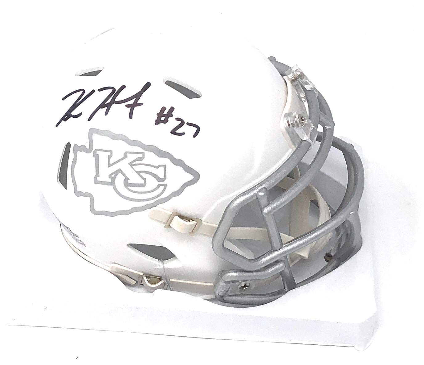 Kareem Hunt Kansas City Chiefs Signed Autograph ICE Speed Mini Helmet Hunt Player Hologram Certified