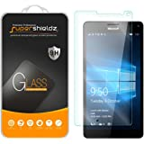 [2-Pack] Microsoft Lumia 950 XL Tempered Glass Screen Protector, Supershieldz Anti-Scratch, Anti-Fingerprint, Bubble Free, Lifetime Replacement Warranty