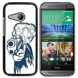 PC/Aluminum Funda Carcasa protectora para HTC ONE MINI 2 / M8 MINI Gangster Dog / JUSTGO PHONE PROTECTOR