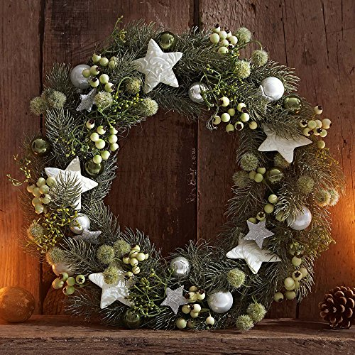 adventskranz weihnachtskranz komplett geschm ckt mit weihnachtsdeko sternen. Black Bedroom Furniture Sets. Home Design Ideas