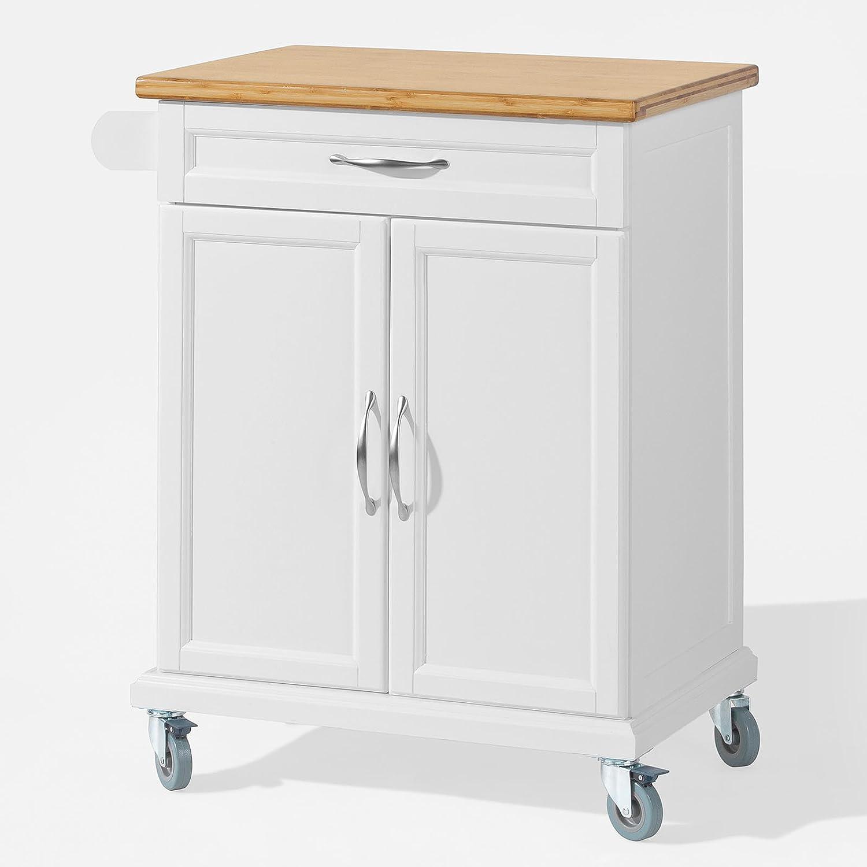 Promotion -20%! Desserte chariot de cuisine de service meuble de rangement roulant L66cmxH90cmxP46cm FKW13-WN