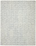 Rivet Modern Geometric Wool Rug, 8' x 10', Blue