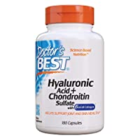 Doctor's Best Hyaluronic Acid with Chondroitin Sulfate, Non-GMO, Gluten Free, Soy...