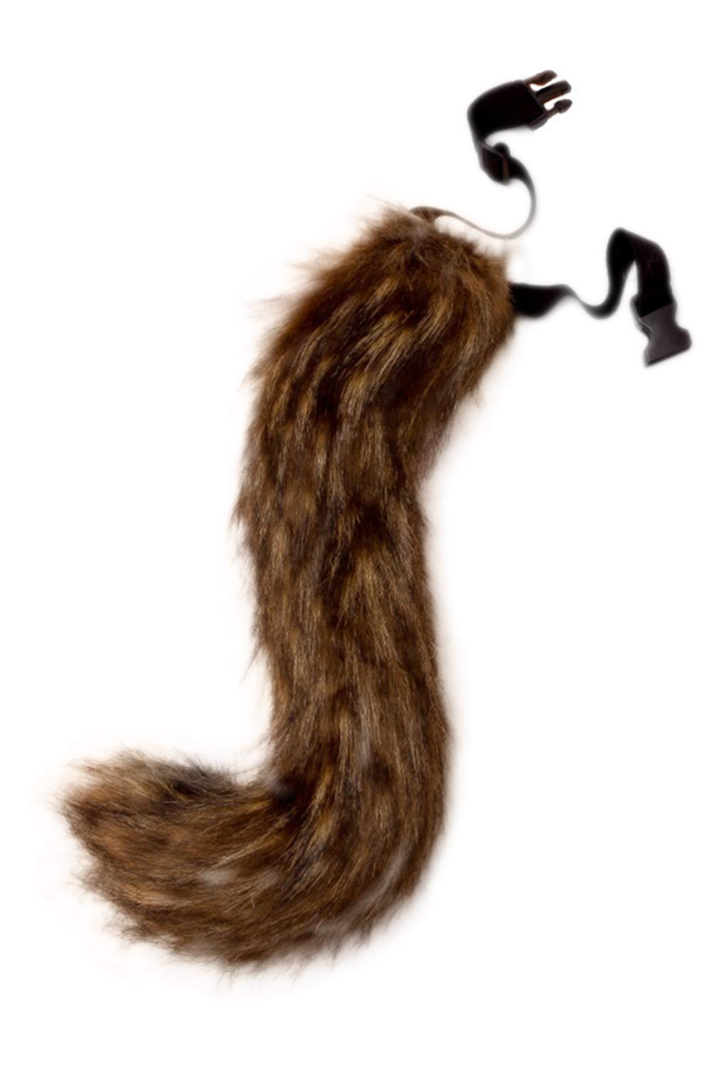 Fanvans Faux Fur Tail for Adult Teen Cosplay Halloween Party Costume UKENpcP0072-Brown-F