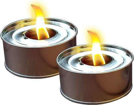 Exterior velas 2 unidades Decoración de fuego de fiesta, jardín, cada uno con 4 horas de tiempo de combustión: Amazon.es: Jardín