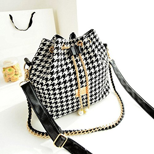 Women Handbag Shoulder Bags Briefcase Tote Purse Messenger Hobo Satchel Bag Cross Body ,Classic design ,Houndstooth