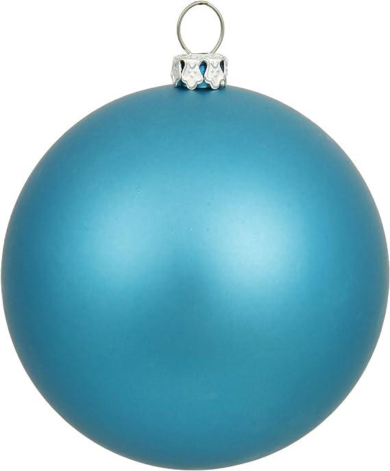 Vickerman 12 Turquoise Matte Ball Ornament Home Kitchen