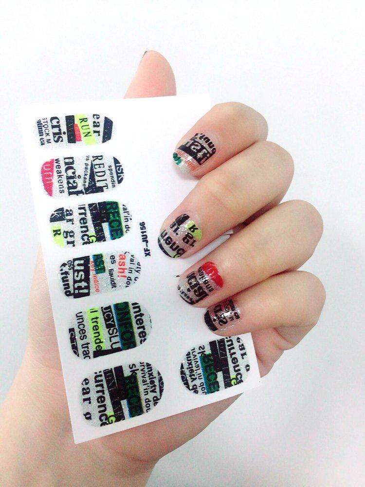 Pueen 3d Jeweled Nail Wraps Collection Join Our Party 5 Pack 18
