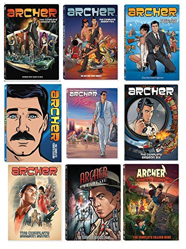 Archer Complete Series Seasons 1-9 Set DVD (Archer Tv Series Dvd)