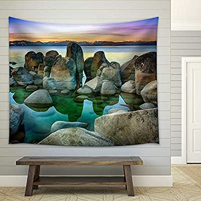 Gorgeous Handicraft, Rocks in a Lake Lake Tahoe Sierra Nevada California USA Fabric Wall, With a Professional Touch