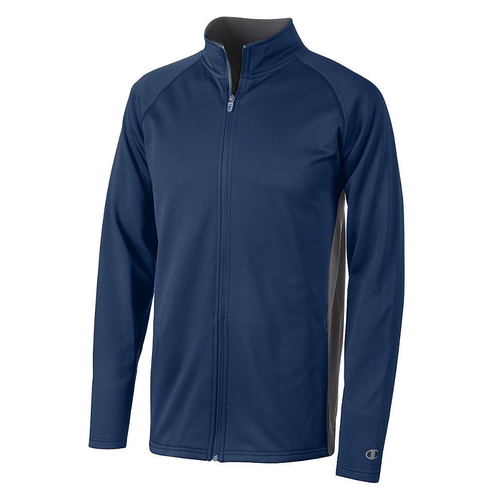 Champion Double Dry Men`s Colorblock Full Zip Jacket