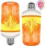 Flamme Glühbirne, E27 Base Flackernde Flamme Glühbirne dekorative Atmosphäre Lampen für Weihnachten, Zuhause, Hotel, Bar, Festdekorationen. (2 Stück)