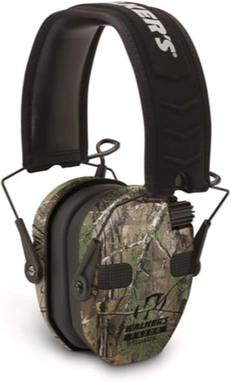 WALKER'S Razor Slim Electronic Quad Earmuff 23Db/Realtree Xtra Camo : Clothing