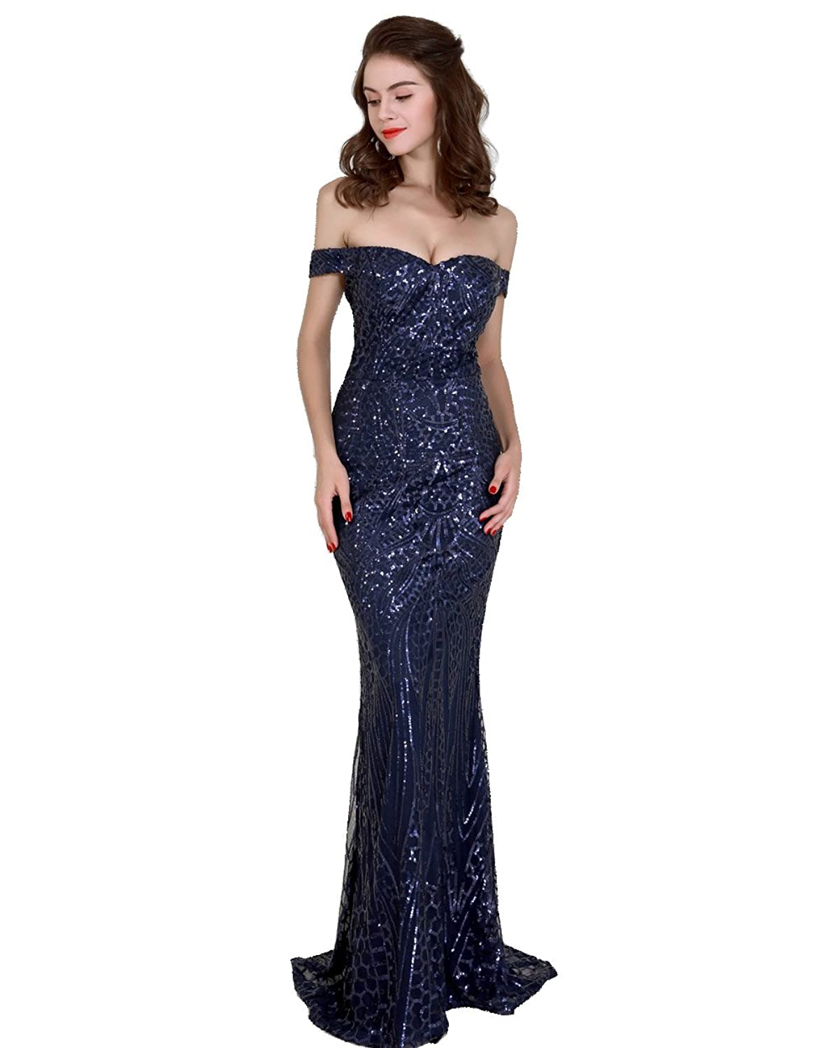 d59ea02e53fa Suitable for cocktail , party , club , prom , gown , etc evening gathering.  backless and word shoulder style give you fantasy , polyester material  makes you ...