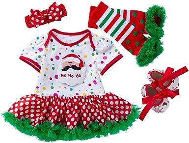 Ropa Vestido Bebe Niña Recien Nacido Navidad Disfraz Ropa para 0 ...