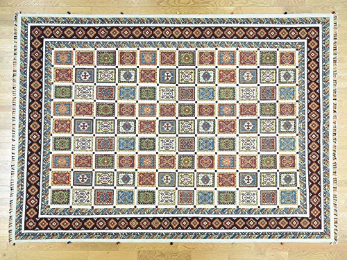 - 10'x14' Hand-Knotted High and Low Pile Neem Buft Soumak Oriental Rug G32070