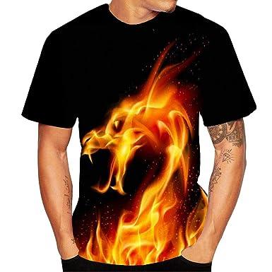 T-Shirt de Verano Camiseta de Manga Corta para Hombre Cuello ...