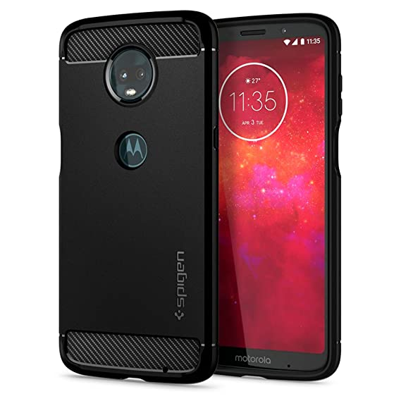 hot sale online 34b31 9c170 Spigen Rugged Armor Designed for Moto Z3 / Moto Z3 Play Case (2018) - Black