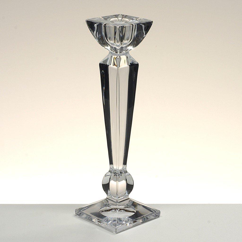 la galaica Portacandele in cristallo, candeliere, Boemia, collezione OLYMPIA, 18 cm. di altezza.