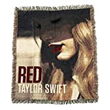 #3: Taylor Swift Rare Collectible: 2012 Limited Edition RED Album Woven Blanket