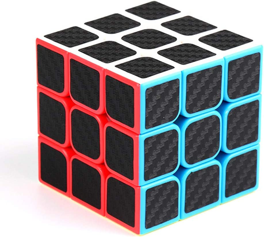 BSTOB Rubix Cube Rubix Cube Speed Cube 3x3x3 Smooth Magic Carbon Fiber Sticker Rubix Speed Cube Black01