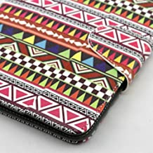 Universal Tablet Case Cover (7az) for 7 Inch Size Ultra Slim and Low Weight Pu Leather Folio Style Fits HKC Touch 7 (Aztec)