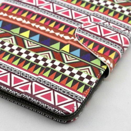 Universal Tablet Case Cover (8az) for 7 Inch Size Ultra Slim and Low Weight Pu Leather Folio Style Fits Sprint ZTE Optik V55 Ztesv55tab (Aztec)