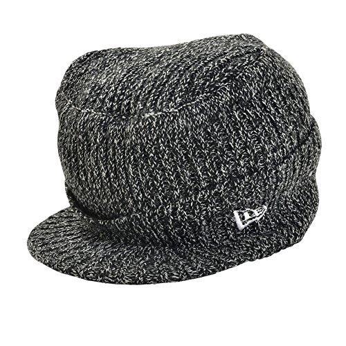 ニューエラ ゴルフ ニット帽 バイザー フラップトップ ヘザー ブラック NEW ERA GOLF