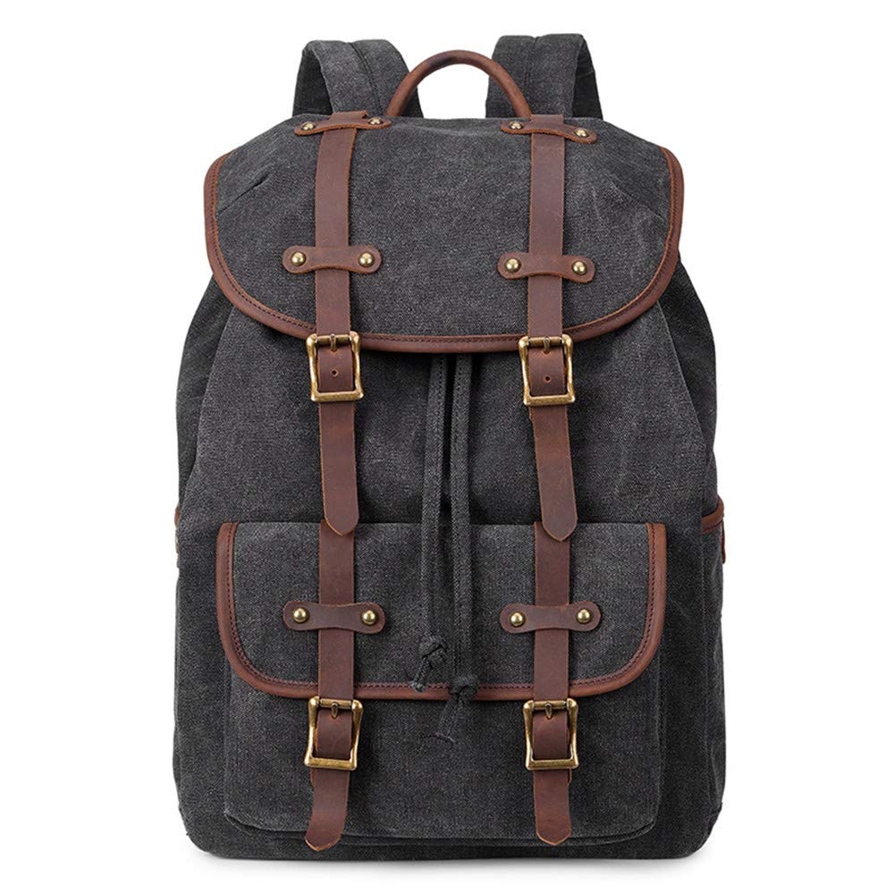 0d659b8fa4 Men Business Travel Laptop Backpack 15 inch Canvas Laptop Backpack Unisex  Vintage Casual School College Business Bags Bookbag Hiking Travel Daypack  Casual ...