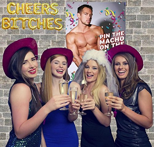 Bachelorette Party Games & Bridal Shower Supplies - 20 Dare Card Game, 30 Drink If Cards, Pin the Macho on the Man w/ 24 Machos, Bride Set Gifts, Naughty Lesbian Hen Party Decor Favors ~ By PRIMEasy by PRIMEasy (Image #4)