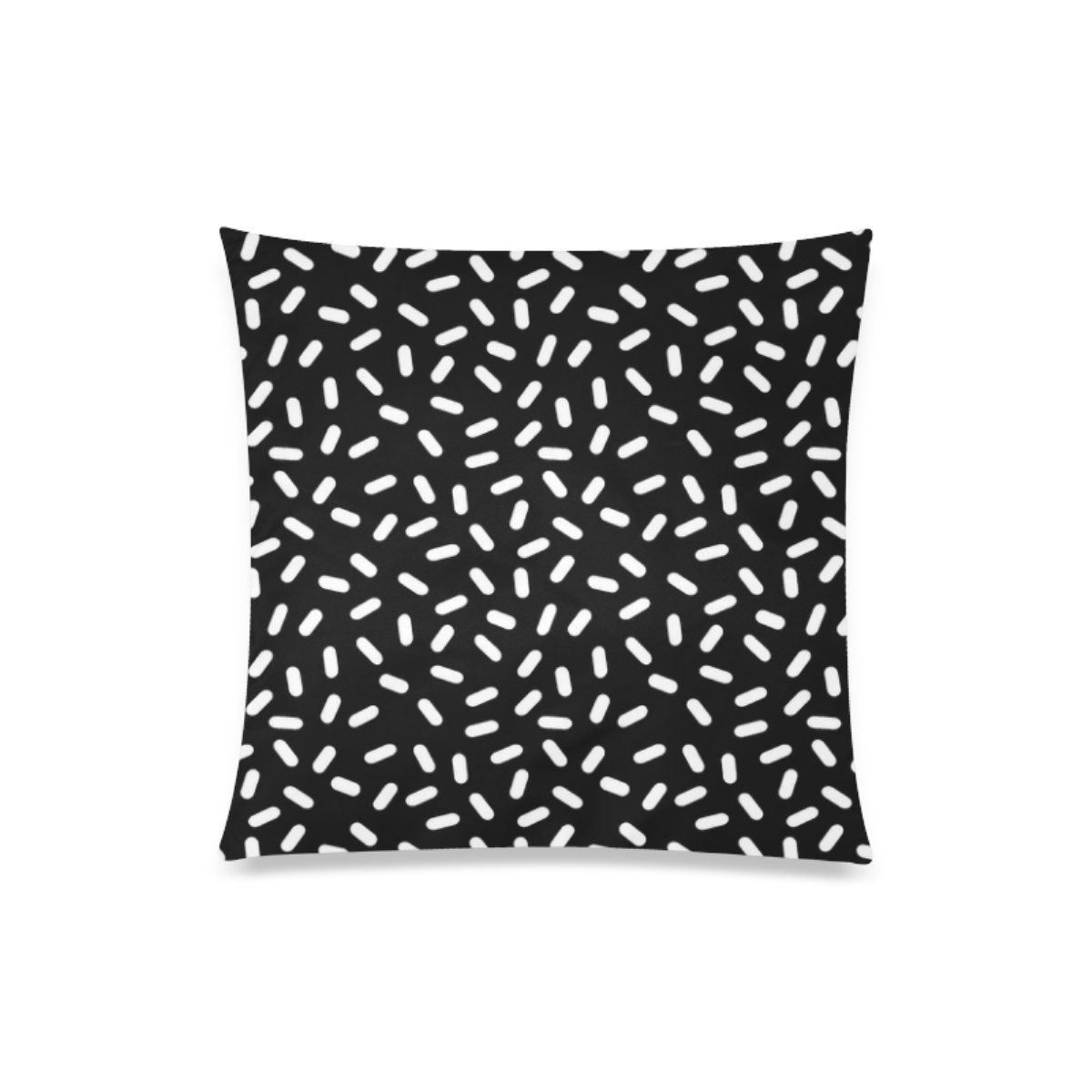Custom Bingo Black And White Cushion Cases Zippered Throw Pillow Covers 20 by 20 Inches