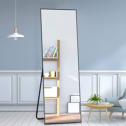Leafmirror Full Length Mirror Dressing Floor Mirror Hanging Free Standing Metal Frame Full Body Mirror Leaning