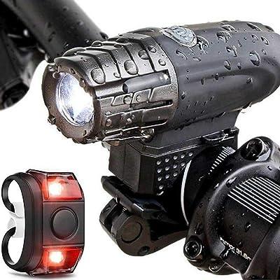 WitMoving - Juego de Luces LED Recargables para Bicicleta (4 Modos, luz Delantera y Trasera)
