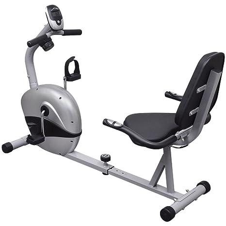 vidaXL - Bicicleta Reclinada, Estática, 3kg pulso Volante ...