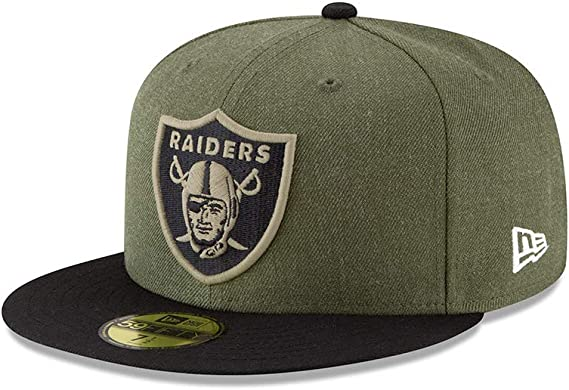 NEW ERA OAKLAND RAIDERS salutate to service cap 59 FIFTY Fitted Limited Edition