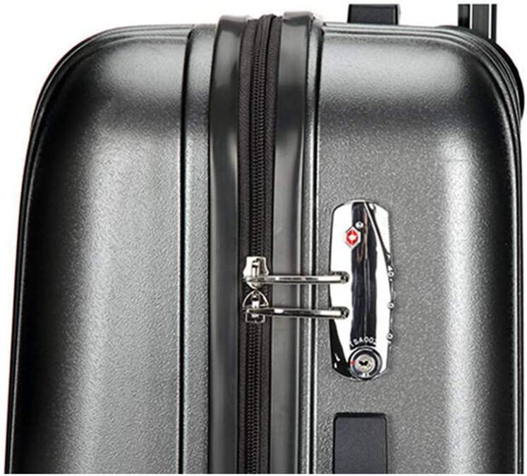 Travel Suitcase Large Capacity Universal Wheel Cabin Case Boarding Luggage Business Retro Trolley Case Ultra Light Suitcase Holiday Qzny Suitcase Color : A, Size : 452667cm