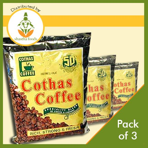 Cothas Coffee South Indian Filter Coffee (Pack of 3) 500gms - South Indian Filter Coffee