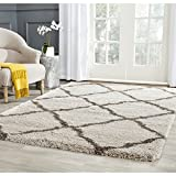Safavieh Belize Shag Collection SGB489D Taupe and Grey Area Rug (5'1″ x 7'6″) Review