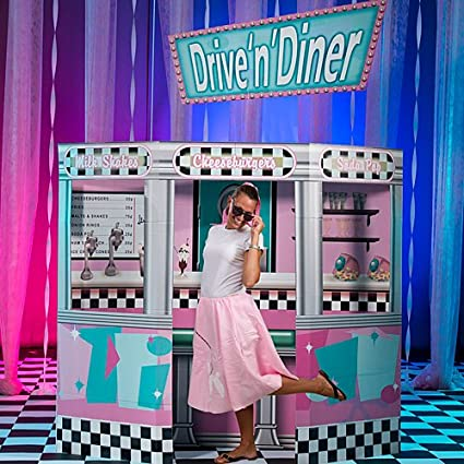 Amazoncom 50s Fifties Diner Prop Standup Photo Booth Prop