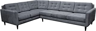 product image for Maxwell Large L Sectional LAF (Dawson Platinum)