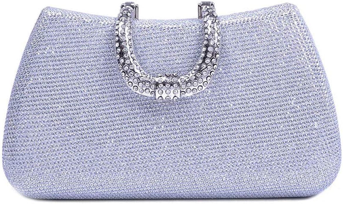 LCHENGJIN WomenS Diamond Rhinestone Single Sided Drilling Dinner Bag Handbag Shoulder Messenger Dress Evening Bag Lady Clutch