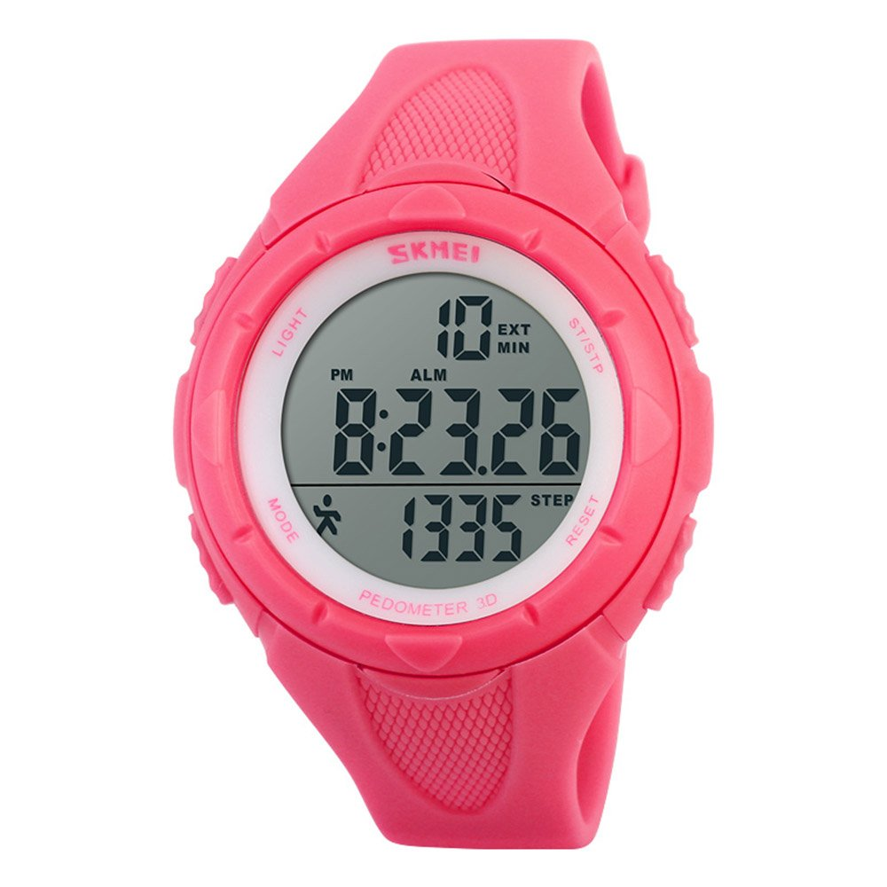 Gosasa Multifunction Women's Pink Watch Fashion Pedometer Digital Fitness For Women Outdoor Wristwatches Sports Watches