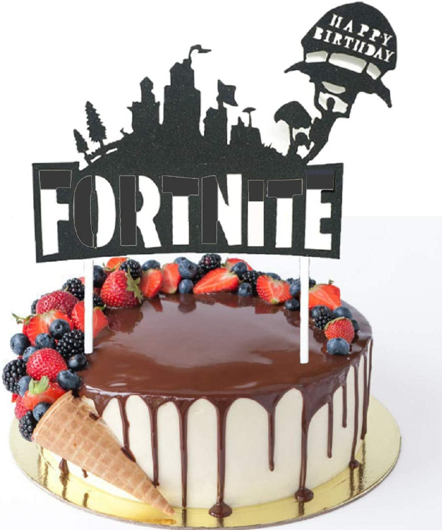 Video Game Birthday Cake Topper for Party Decorations.