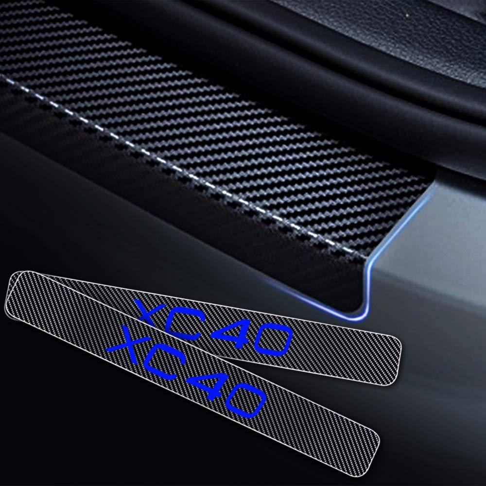 HCDSBSN Para Volvo XC40 Puerta del Coche Sill/ín Pedal de Puerta de Entrada Guardia Protector 4D Vinilo de Fibra de Carbono Pegatinas 4 unids Auto Parte Accesorios