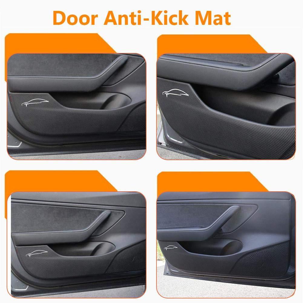 Dreameryoly Car Door Anti-Kick Mat,Door Protector Mat Side Edge Film Protector Stickers For Tesla Model 3