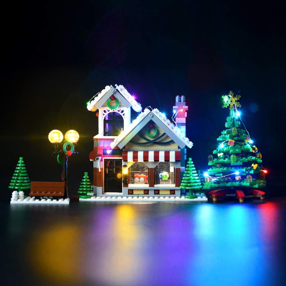 Briksmax Led Beleuchtungsset für Weihnachtlicher Spielzeugladen, Kompatibel Mit Lego 10249 Bausteinen Modell - Ohne Lego Set