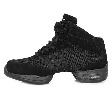 SWDZM Frauen moderne tanzschuhe/Hip-Hop Jazz Schuhe/Tanz-Modern/sports sneaker/Outdoor Schuhe B61 schwarz 35 bMxWJb