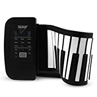 Rechargeable 61 Keys Silicon Flexible Roll Up MIDI Electronic Piano Design for Beginners and Kids