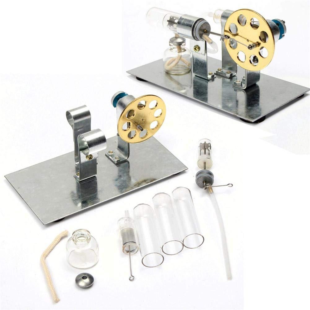 Jannyshop Niedrige Temperatur Sterling Motor Stirlingmotor Heiß luftmotor Dampfmaschinen Spielzeug Kit
