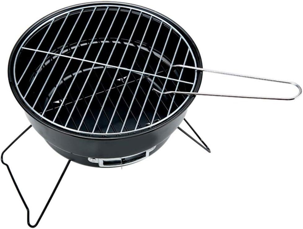 A-Z ZA Carbón de leña portátil Barbacoa Plegable Parrilla, Cocina Familiar para Acampar al Aire Libre Tipo Redondo Asador pequeño Estufa de asado, Parrilla de Camping, Estufa de Barbacoa